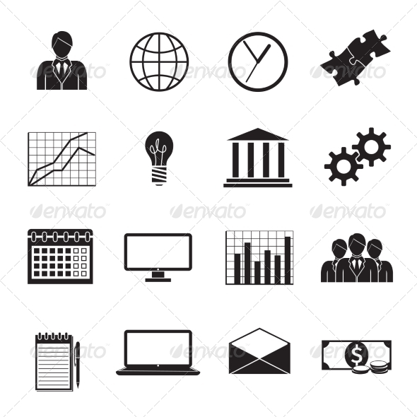 Business Flat Generic Icons Set - Business Icons