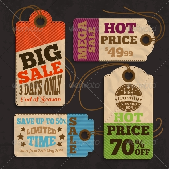 Shopping Labels - Retail Commercial / Shopping