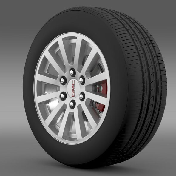 GMC Yukon Hybrid 2012 wheel - 3DOcean Item for Sale