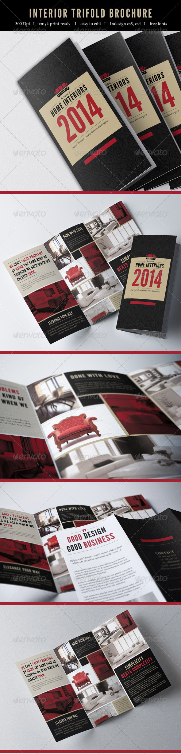Interior Trifold Brochure - Catalogs Brochures