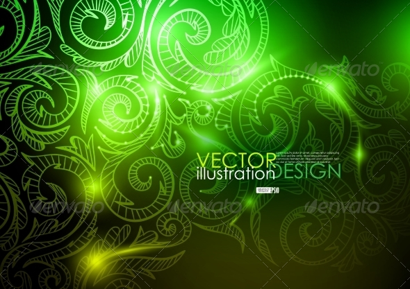 Neon Pattern Background. - Backgrounds Decorative