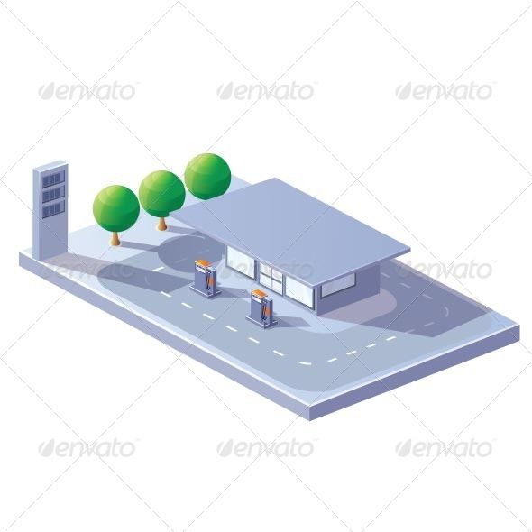 Gas Station - Buildings Objects