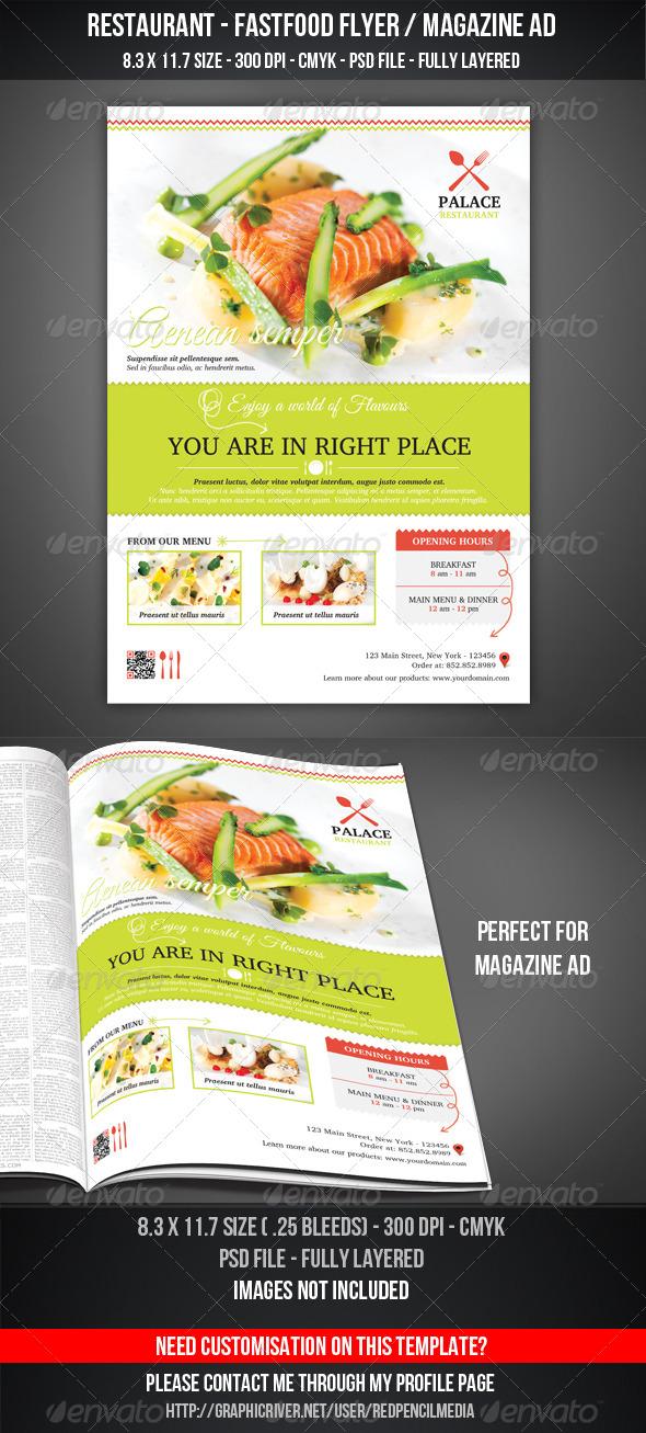Restaurant - FastFood Flyer / Magazine AD - Restaurant Flyers