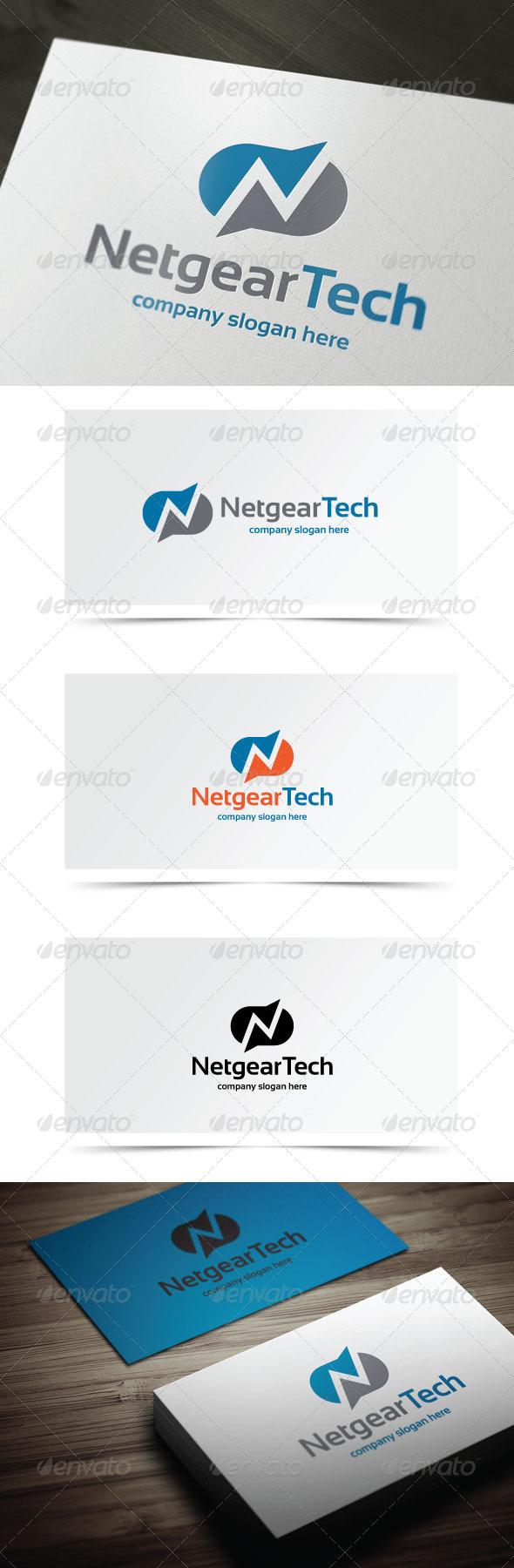 Netgear Tech - Letters Logo Templates