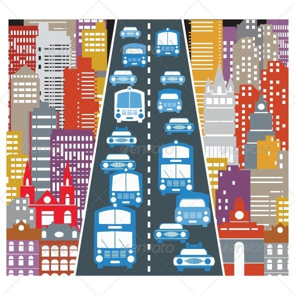 Automobile Traffic - Buildings Objects
