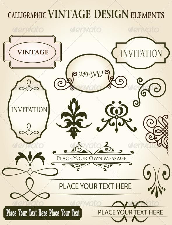Premium Calligraphic and Vintage Design Elements - Borders Decorative