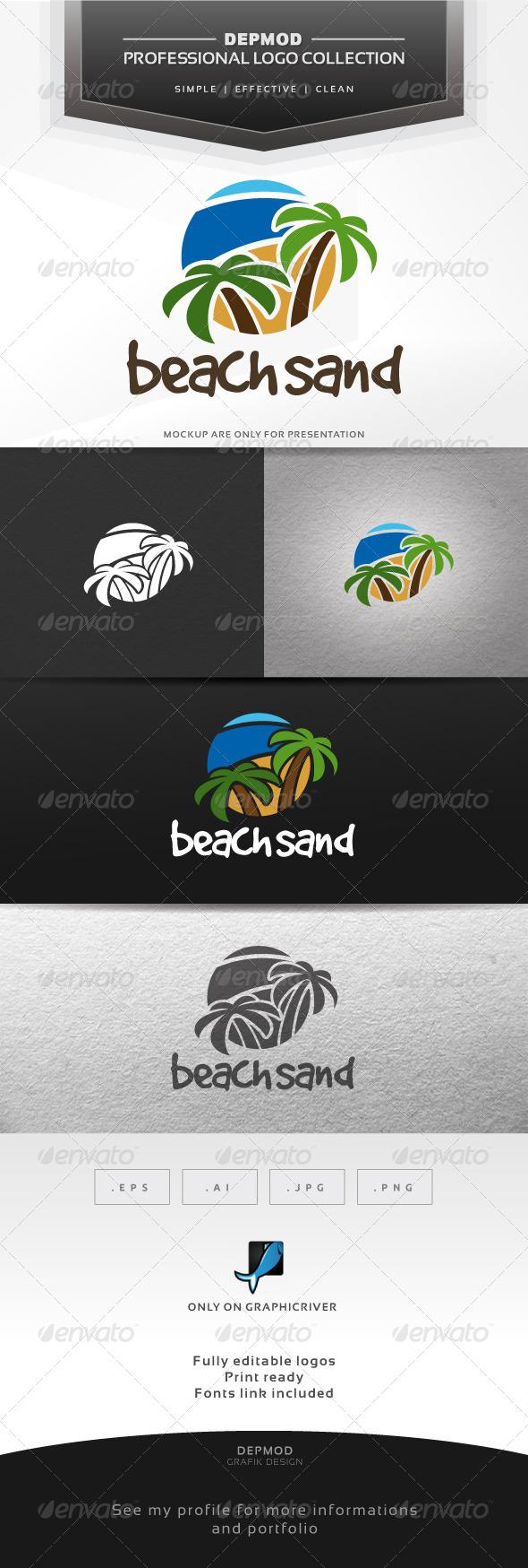 Beach Sand Logo - Nature Logo Templates