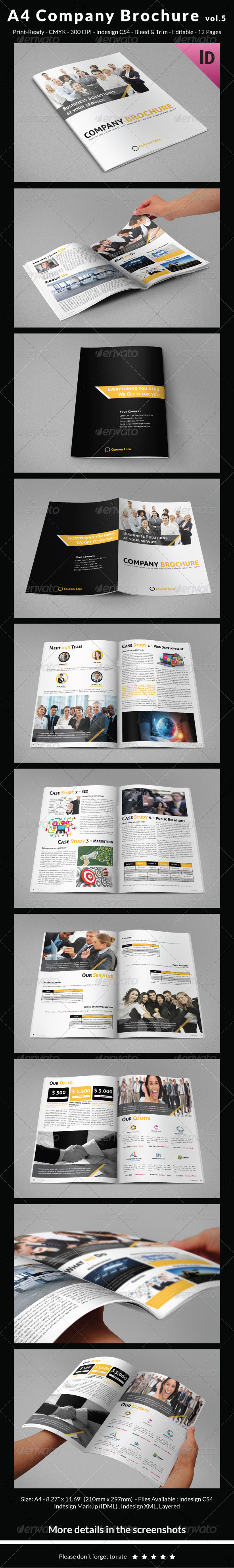 A4 Company Brochure vol.5 - Corporate Brochures