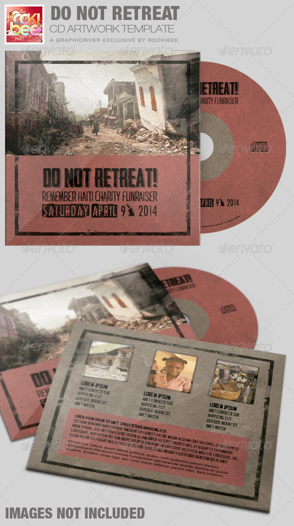 Do Not Retreat Charity CD Artwork Template - CD & DVD Artwork Print Templates