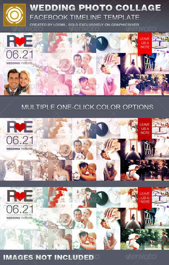 Wedding Photo Collage Facebook Timeline Cover  - Facebook Timeline Covers Social Media