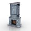 Fireplace gzhel1.  thumbnail