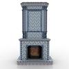 Fireplace gzhel2.  thumbnail