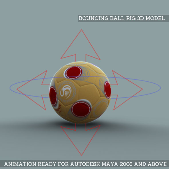 Bouncing Ball Rig 3D Model - 3DOcean Item for Sale