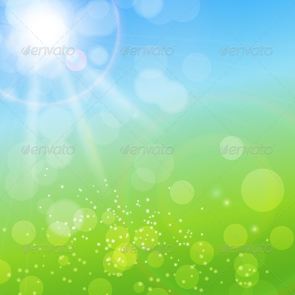 Summer Abstract Background with Grass - Flowers & Plants Nature