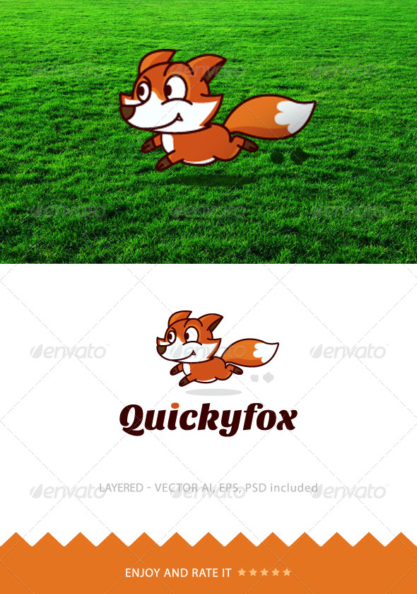 Quicky Fox - Animals Logo Templates