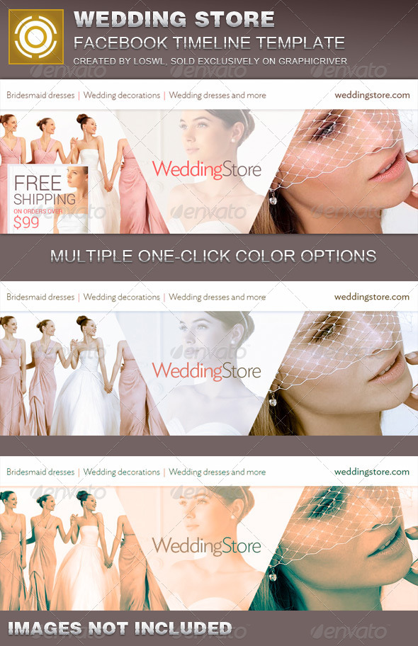 Wedding Store Facebook Timeline Cover Template - Facebook Timeline Covers Social Media