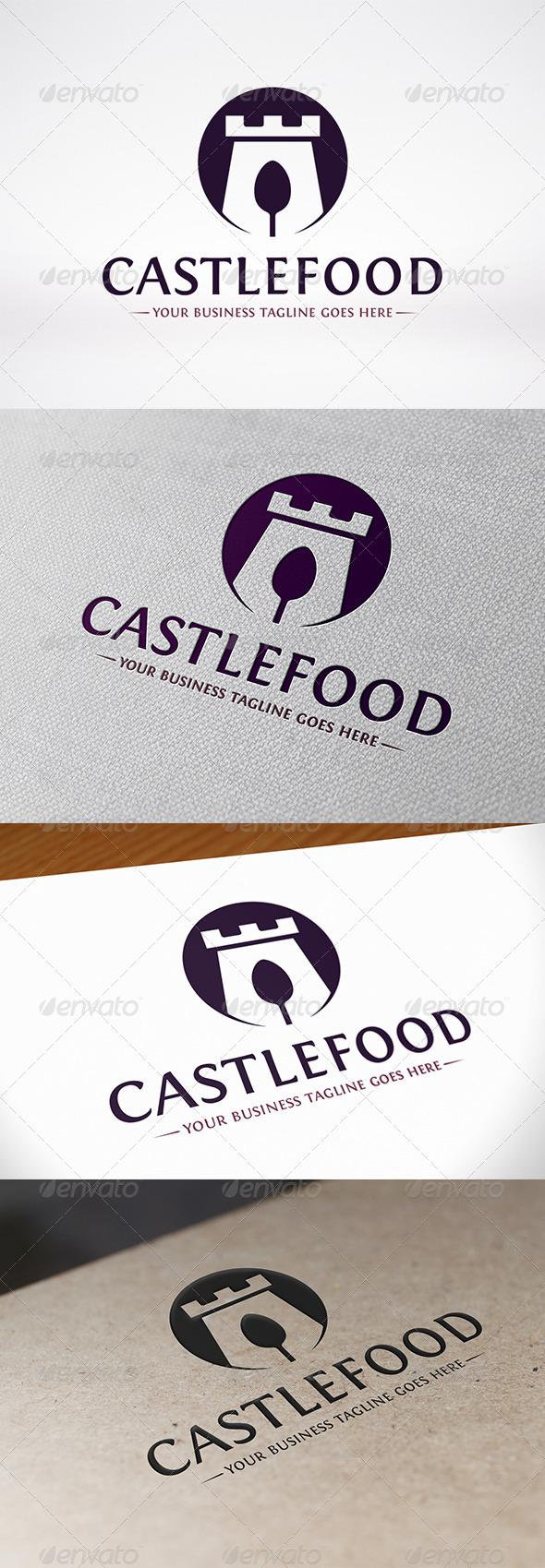Castle Food Logo Template - Food Logo Templates