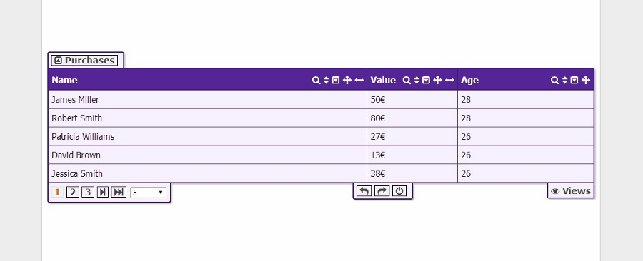 Resizable table columns bootstrap phpsourcecode net for Table th width ignored