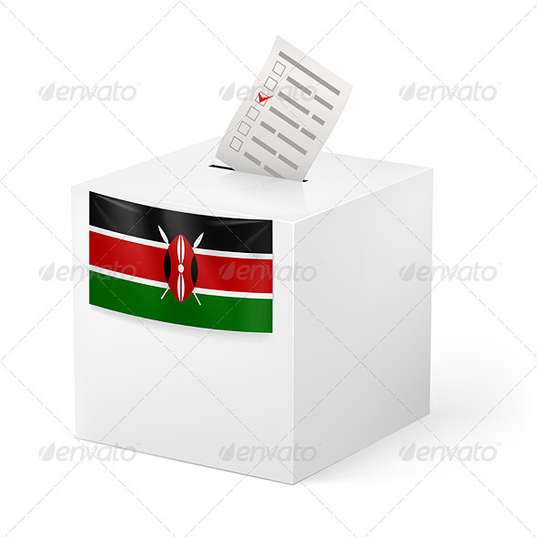 Ballot Box with Voting Paper Kenya - Miscellaneous Vectors