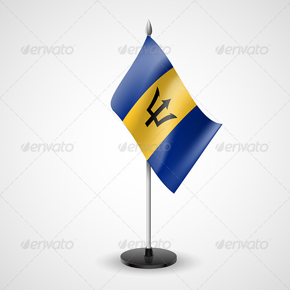 Table Flag of Barbados - Miscellaneous Vectors