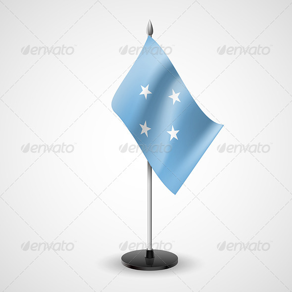 Table Flag of Federated States of Micronesia - Miscellaneous Vectors