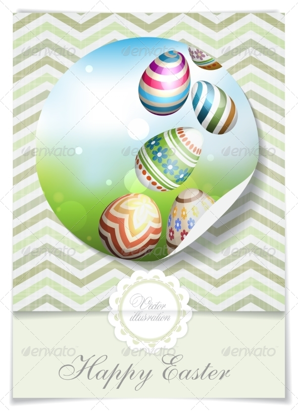 Easter Background with Eggs in Grass - Miscellaneous Seasons/Holidays