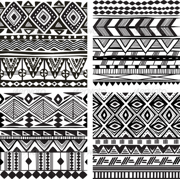 Seamless Tribal Texture - Patterns Decorative