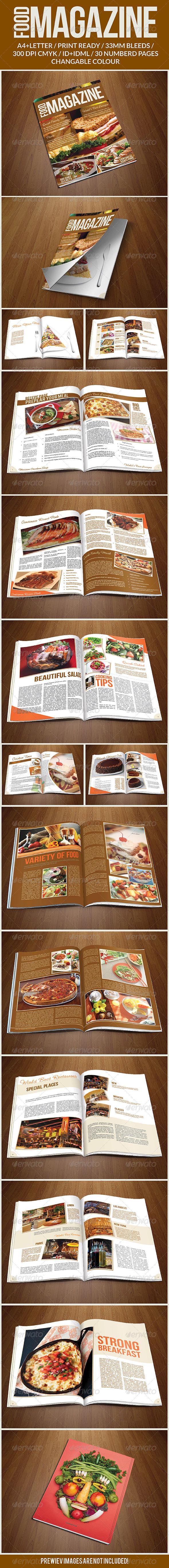 Food Magazine Template - Magazines Print Templates