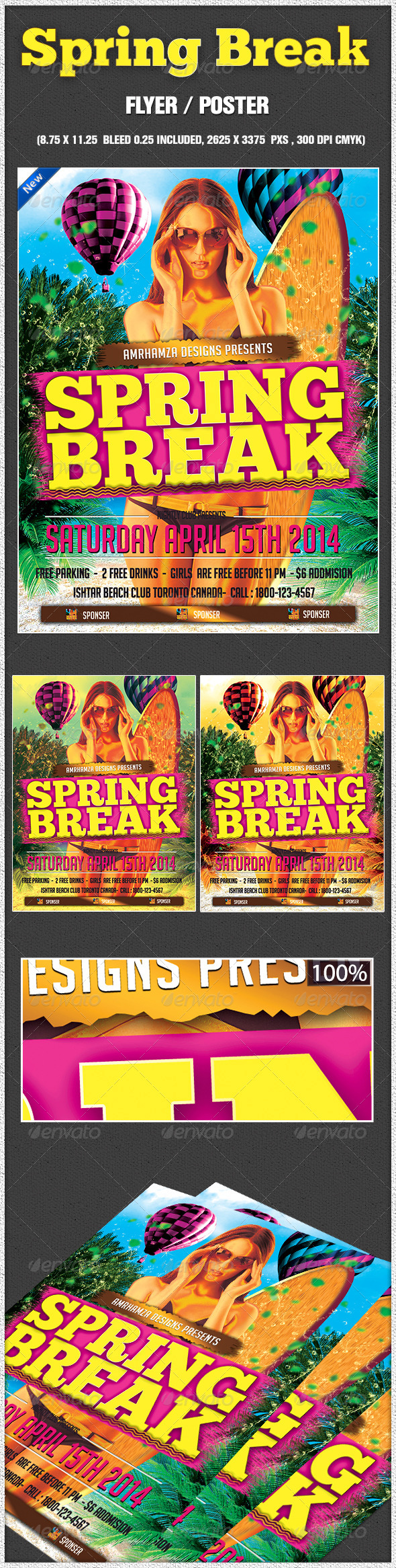 Spring Break Surf Beach Club Party Event - Holidays Events