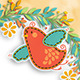Wreath Bird Background Layout - GraphicRiver Item for Sale