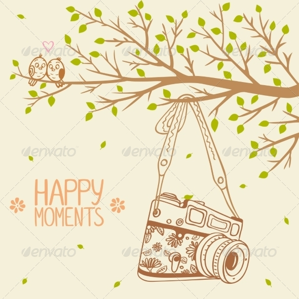 Camera and Tree - Retro Technology