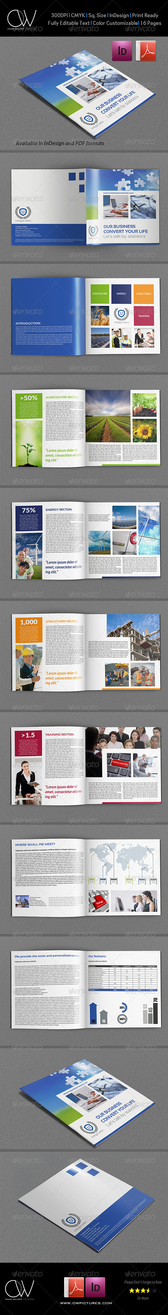 Company Brochure Template Vol.32 - 16 Pages - Corporate Brochures