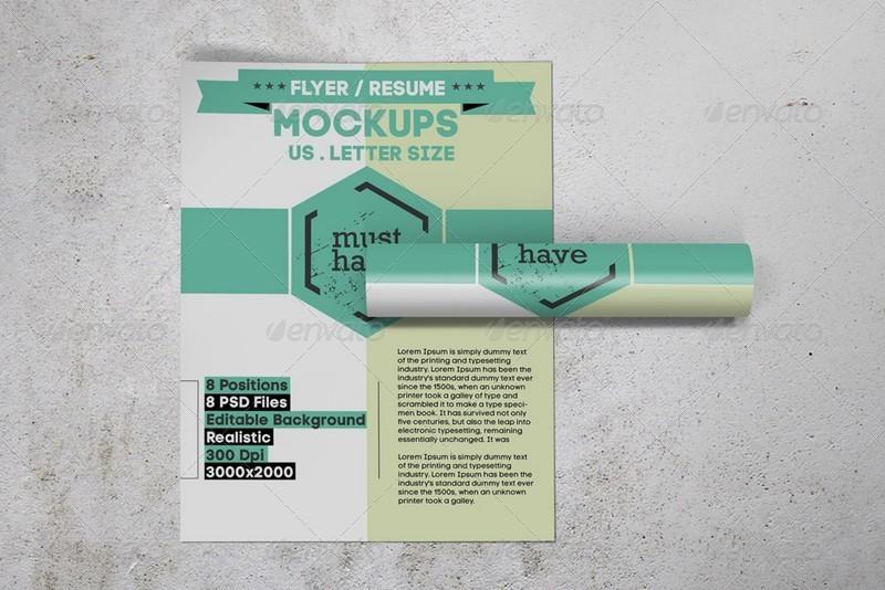 us letter flyer    resume mockups by kongkow