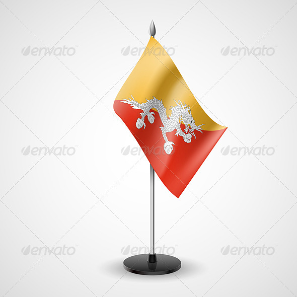 Table Flag of Bhutan - Miscellaneous Vectors