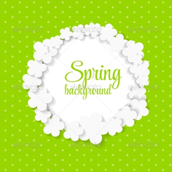 Spring Background with Paper Flowers - Backgrounds Decorative