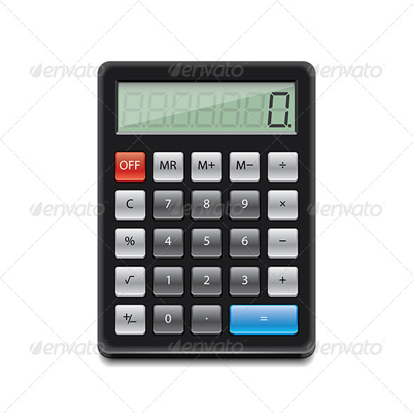 Black Calculator  - Technology Conceptual