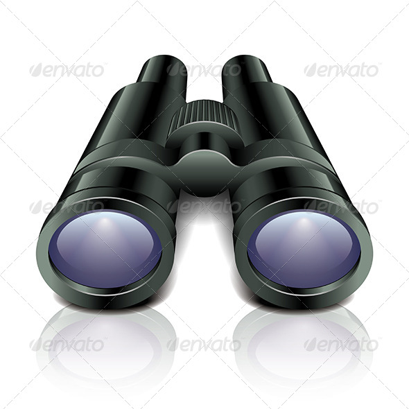 Black Binoculars - Man-made Objects Objects
