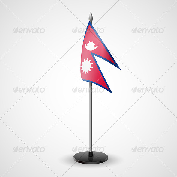 Table Flag of Nepal - Miscellaneous Vectors