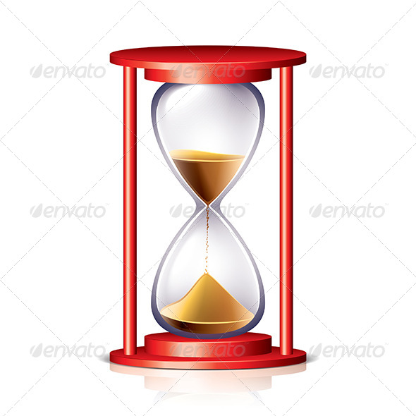 Red Transparent Hourglass - Man-made Objects Objects