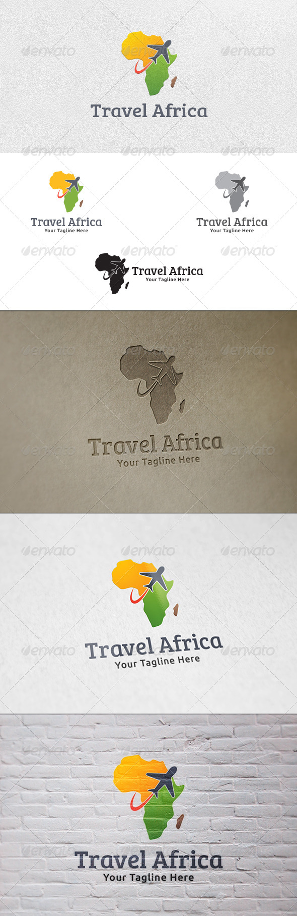 Travel Africa - Logo Template - Symbols Logo Templates