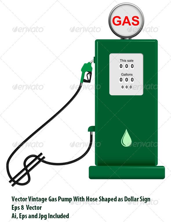 Gas Pump - Conceptual Vectors
