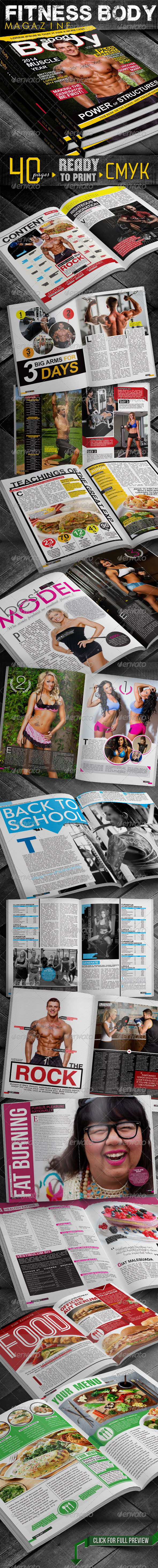 Fitness Body Magazine - Magazines Print Templates