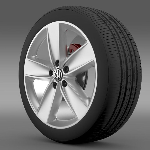 VW Polo 2010 wheel - 3DOcean Item for Sale