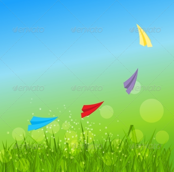 Summer Abstract Background with Grass - Landscapes Nature