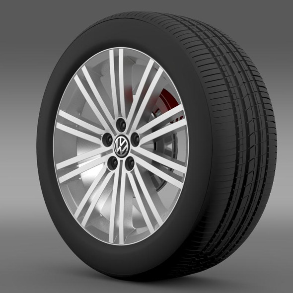 VW Polo Blue GT 2012 wheel - 3DOcean Item for Sale