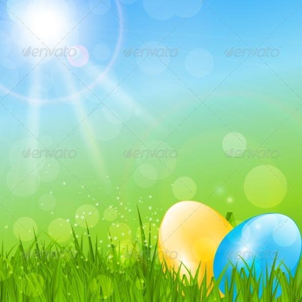 Easter Background - Landscapes Nature