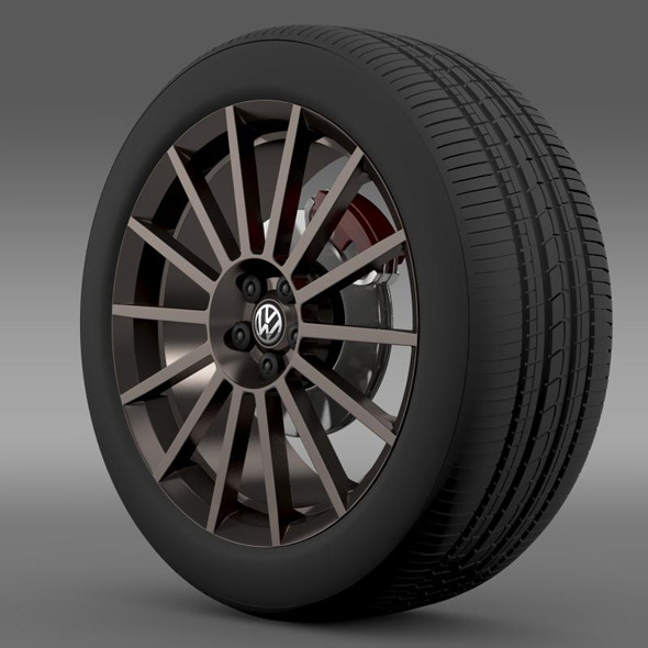 VW Polo R WRC Street wheel - 3DOcean Item for Sale