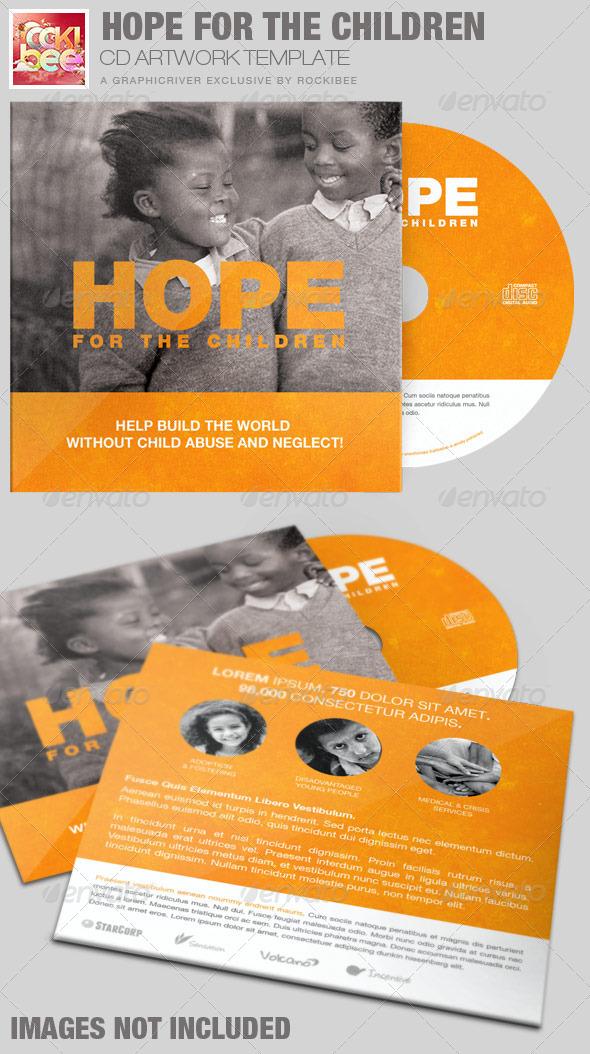 Hope for the Children Charity CD Artwork Template - CD & DVD Artwork Print Templates