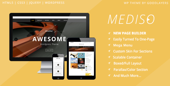 Mediso – Corporate / One-Page / Blogging WP Theme