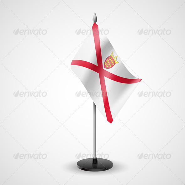 Table Flag of Jersey - Miscellaneous Vectors